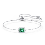 Angelic Green Rectangular Pull Bracelet by Swarovski