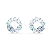 Swarovski Attract Blue Circle Earrings