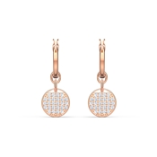Swarovski Ginger Rose Gold Mini Hoop Earrings