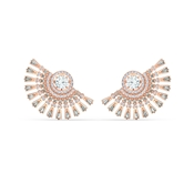 Swarovski Sparkling Dance Rose Gold Oversized Earrings