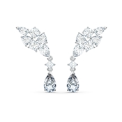 Swarovski Tennis Deluxe Silver Cluster Earrings