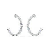 Swarovski Tennis Deluxe Silver Hoop Earrings