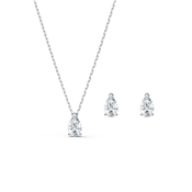 Swarovski Attract Silver Pear Set