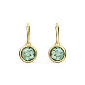 Swarovski Tahlia Gold & Green Mini Hoop Earrings