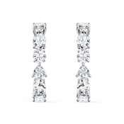 Swarovski Tennis Deluxe Silver Drop Earrings