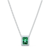 Swarovski Angelic Green Rectangular Necklace
