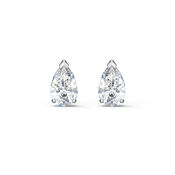Swarovski Attract Silver Pear Stud Earrings