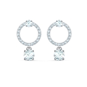 Swarovski Attract Silver Circle Earrings