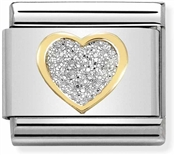 Nomination Heart Glitter Charm
