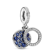 Pandora Sparkling Blue Disc Drop Charm