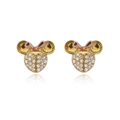 Kate Spade New York Gold Crystal Minnie Mouse Earrings
