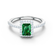 Angelic Green Rectangular Ring Size 52 by Swarovski