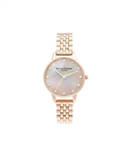 Olivia Burton Mother Of Pearl Pale Rose Gold Bracelet Watch