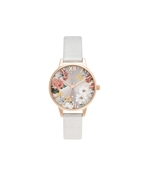Olivia Burton Midi Shimmer Pearl & Pale Rose Gold Watch