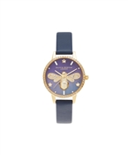 Gold Sparkle Bee Navy Watch by Olivia Burton