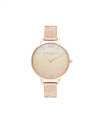 Olivia Burton Sunset Rose Gold Glitter Watch