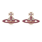 Vivienne Westwood Rose Gold Fuchsia Kika Earrings