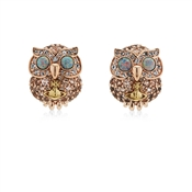Vivienne Westwood Rose Gold Louisette Owl Earrings