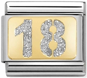 Nomination 18th Birthday Glitter Charm