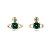 Vivienne Westwood Gold Green Reina Earrings