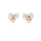 Vivienne Westwood Rose Gold Cream Lynette Earrings
