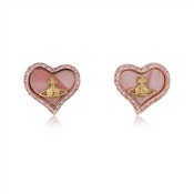 Vivienne Westwood Rose Gold Pink Pearl Petra Earrings