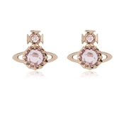 Rose Gold Pink Latifah Earrings by Vivienne Westwood