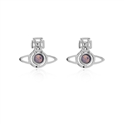 Silver Lavender Opal Nora Earrings by Vivienne Westwood