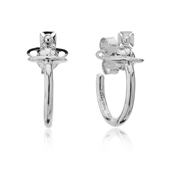 Vivienne Westwood Rhodium Vera Hoop Earrings