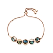 August Woods Rose Gold Abalone Pull Bracelet