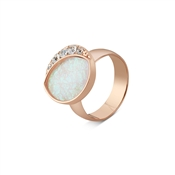 August Woods Rose Gold Abalone Opal Adjustable Ring