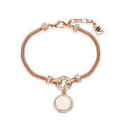 August Woods Rose Gold Crystal Drop Circle Bracelet