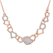 August Woods Rose Gold Sparkle Geo Necklace