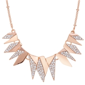 August Woods Rose Gold Crystal Geo Necklace