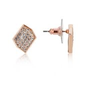 August Woods Rose Gold Sparkle Geo Earrings
