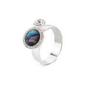 August Woods Silver Abalone Adjustable Ring