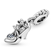 Pandora Disney Cinderella Glass Slipper & Mice Charm