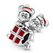 Pandora Disney Mickey Mouse and Minnie Mouse Present Charm