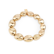 August Woods Gold Pebble Stretch Bracelet