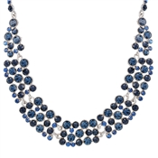 Navy Sparkle Statement Necklace by August Woods