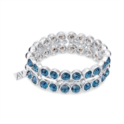 August Woods Navy Sparkle Stretch Bracelet
