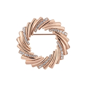 August Woods Rose Gold Crystal Wreath Brooch