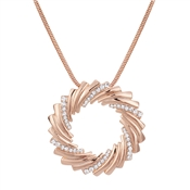 August Woods Rose Gold Crystal Wreath Necklace