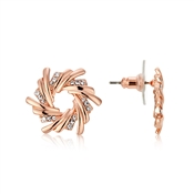 Rose Gold Crystal Wreath Earrings by August Woods