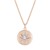 August Woods Rose Gold North Star Necklace