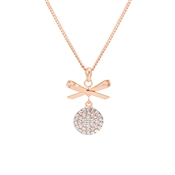 August Woods Rose Gold Crystal Bow Necklace