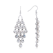 August Woods Silver Statement Crystal Earrings