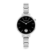 Nomination Silver & Black Paris Crystal Watch