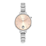 Nomination Silver & Rose Gold Paris Crystal Watch