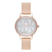Olivia Burton Rose Gold Crystal Snow Globe Watch